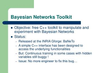 Bayesian Networks Toolkit