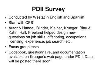 PDII Survey