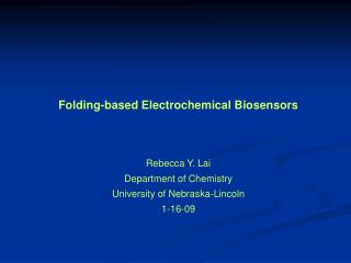 Folding-based Electrochemical Biosensors