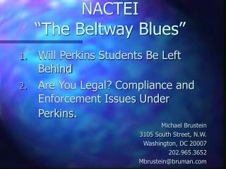 "NACTEI ""The Beltway Blues"""