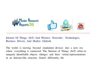Internet Of Things (IoT) And Wireless Networks: Technologies