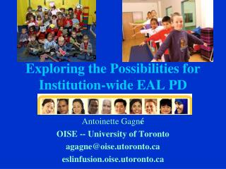 Exploring the Possibilities for Institution-wide EAL PD