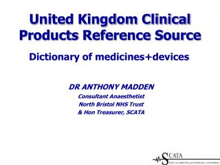 United Kingdom Clinical Products Reference Source