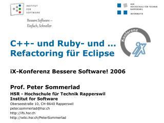 C++- und Ruby- und ... Refactoring für Eclipse