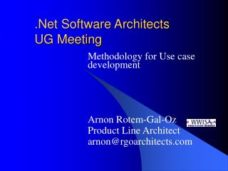.Net Software Architects   UG Meeting
