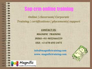 sap crm online training in denmark