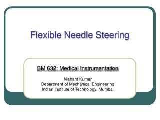 Flexible Needle Steering