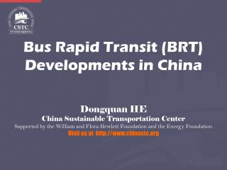 Bus Rapid Transit (BRT) Developments in China