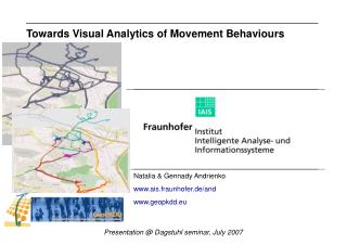 Towards Visual Analytics of Movement Behaviours