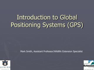 Introduction to Global Positioning Systems (GPS)