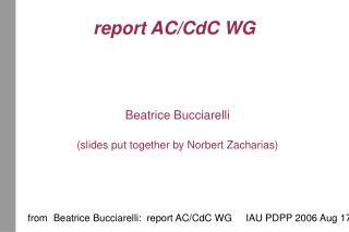 report AC/CdC WG