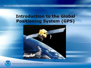 Introduction to the Global Positioning System (GPS)