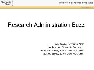 Research Administration Buzz
