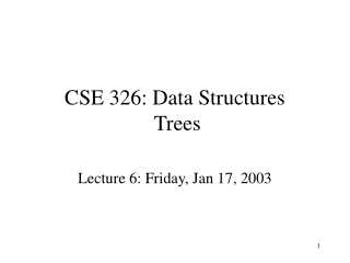 CSE 326: Data Structures Trees