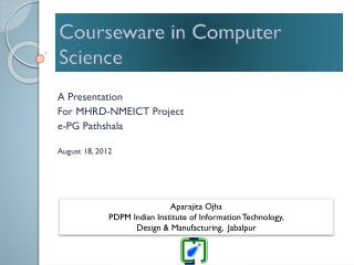 Courseware in Computer Science