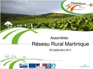 Réseau Rural Martinique 29 septembre 2011