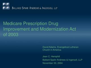 Medicare Prescription Drug Improvement and Modernization Act of 2003