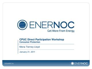 CPUC Direct Participation Workshop Consumer Protection