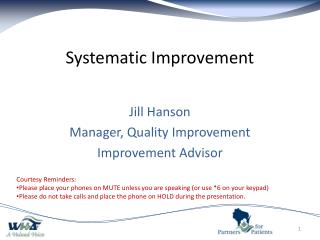 Systematic Improvement