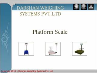 Platform Scale manufacturer and Exporter