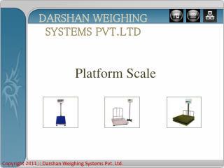 Platform Scale manufacturer and Exporter