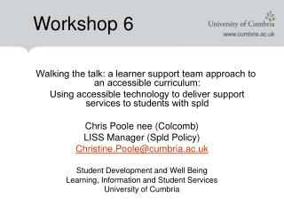 Walking the talk: a learner support team approach to an accessible curriculum: