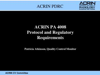 ACRIN PDRC