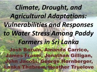 Collaborative Work with Colleagues in Sri Lanka