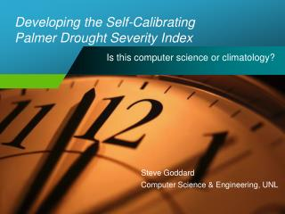 Developing the Self-Calibrating Palmer Drought Severity Index