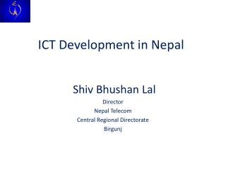 ICT Development in Nepal