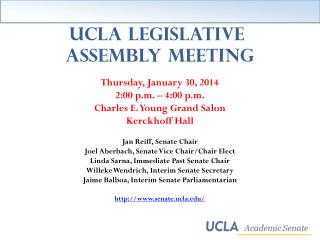 UCLA Legislative  Assembly Meeting