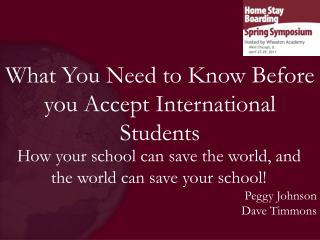 What You Need to Know Before you Accept International Students