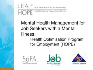 Mental Health Management for Job Seekers with a Mental Illness: