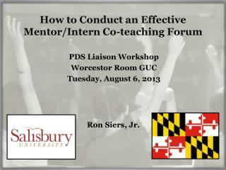 How to Conduct an Effective Mentor/Intern Co-teaching Forum