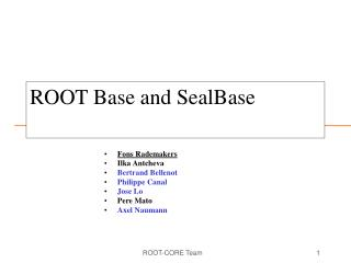 ROOT Base and SealBase
