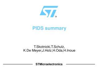 PIDS summary