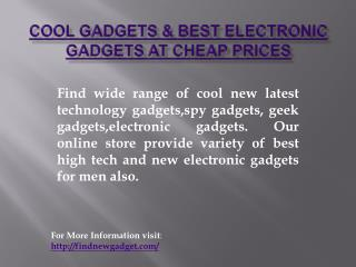Cool Gadgets & Best Electronic Gadgets at Cheap Prices