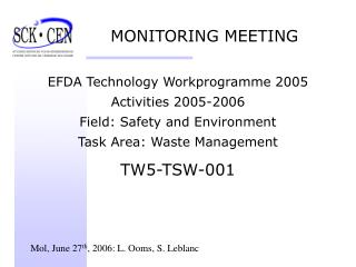 MONITORING MEETING