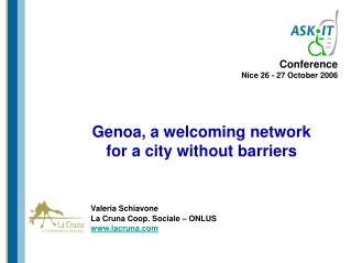 Genoa, a welcoming network  for a city without barriers