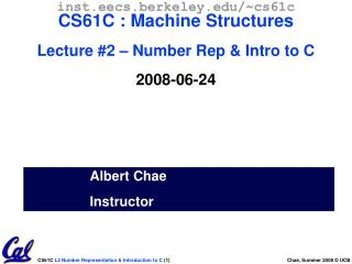 Albert Chae Instructor