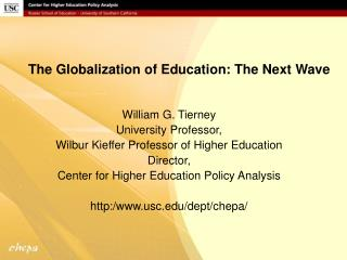 The Globalization of Education: The Next Wave