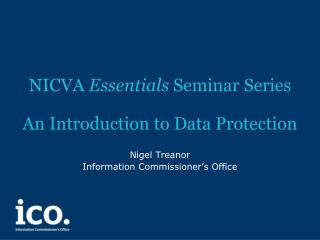 NICVA  Essentials  Seminar Series An Introduction to Data Protection