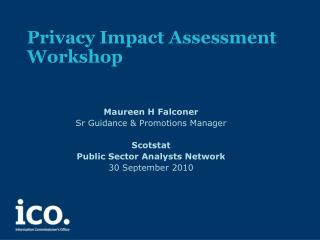 Privacy Impact Assessment  Workshop