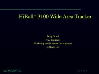 HiBall  -3100 Wide Area Tracker