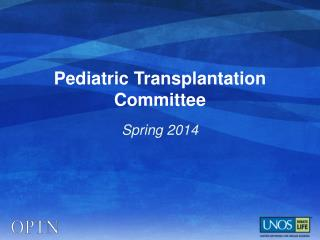 Pediatric Transplantation Committee