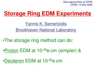 Storage Ring EDM Experiments