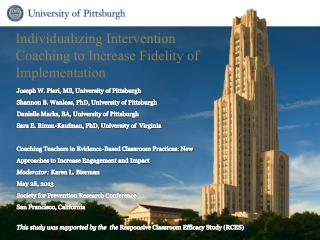 Individualizing Intervention Coaching to Increase Fidelity of Implementation