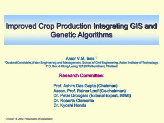 Improved Crop Production Integrating GIS and Genetic Algorithms