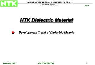 Development Trend of Dielectric Material