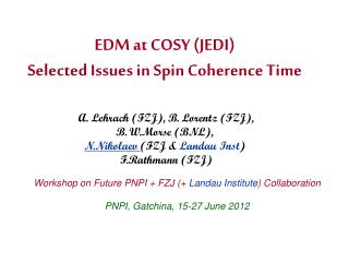 EDM at COSY (JEDI) Selected Issues in Spin Coherence Time